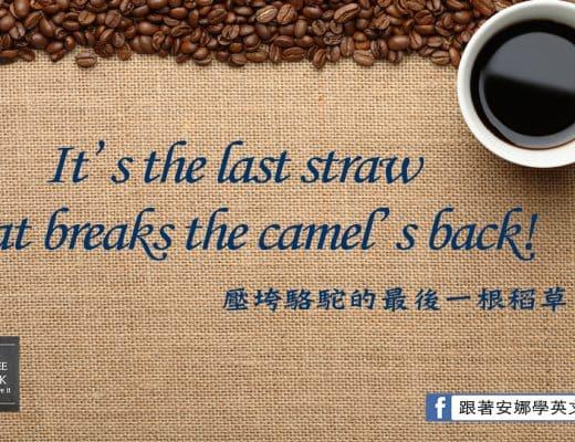 上班族英文-壓垮駱駝的最後一根稻草